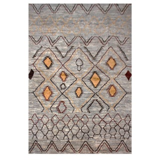 """Aara Rugs Inc. Modern Moroccan Hand Knotted Rug - 5'11"""" X 8'2"""" For Sale"""