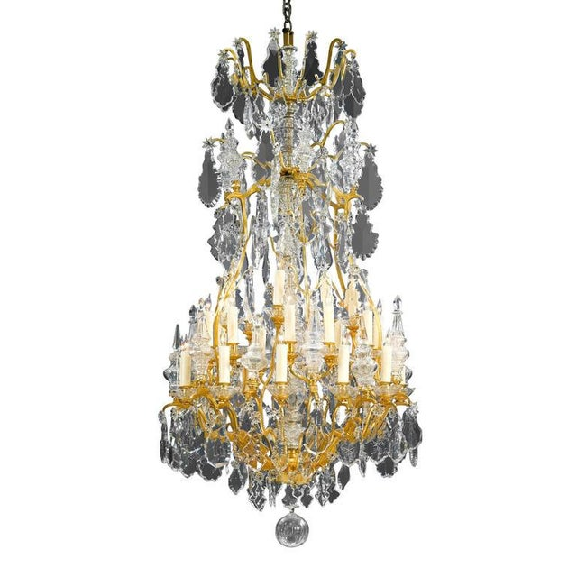 Mid 19th Century Thirty-Light Baccarat Crystal Chandelier For Sale - Image 5 of 5