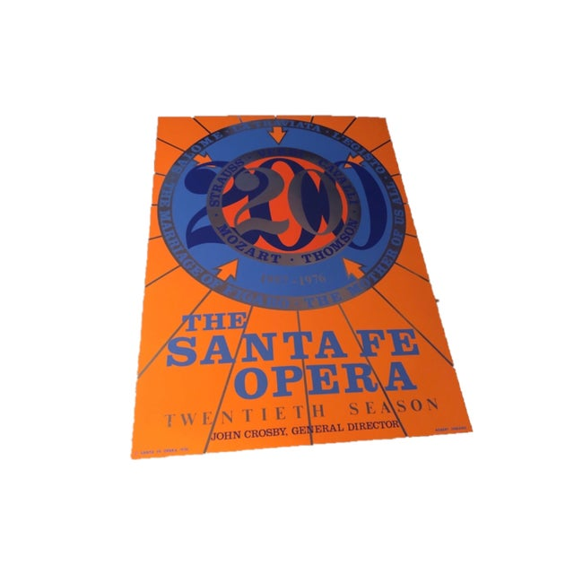 "Contemporary Robert Indiana X ""The Santa Fe Opera '20th Season'"" Foil Serigraph Poster For Sale - Image 3 of 6"