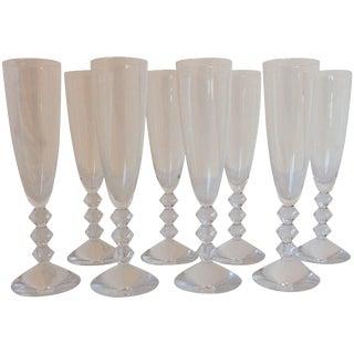Baccarat Vega Champagne Glasses - Set of 8