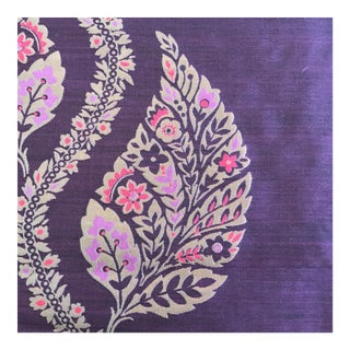 Opulent Designer Silk & Wool Fabric- 2 1/4 Yards