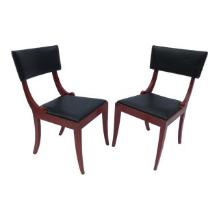 Vintage Klismos-Style Chairs - A Pair For Sale