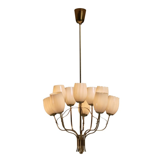 Paavo Tynell Chandelier for Sokos Helsinki House, Taito, Finland, 1950s For Sale