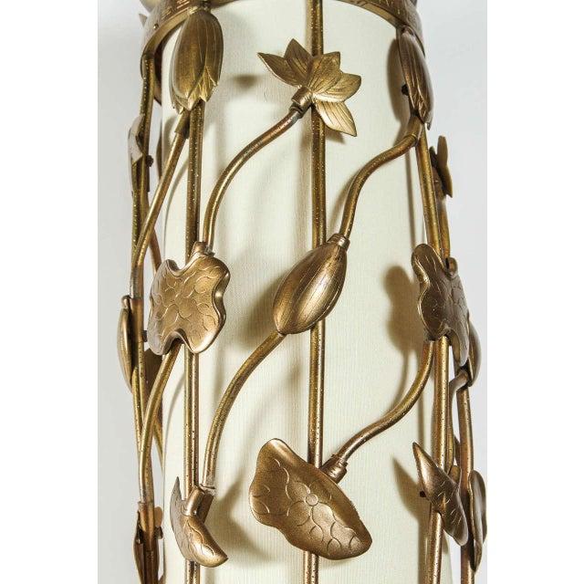 Brass Lotus Pendant - Image 4 of 10