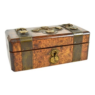 19th Century Art Nouveau Decorated Jewelry Box For Sale