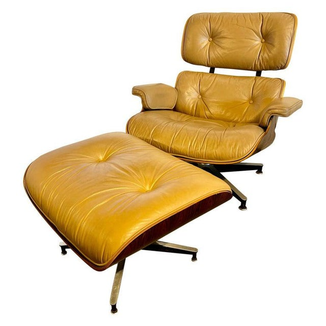 Charles Eames, Herman Miller Midcentury Chair and Ottoman For Sale - Image 13 of 13