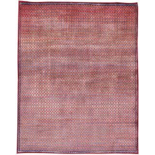 Vintage Persian Kashan Modernist Rug - 4′9″ × 5′11″ For Sale