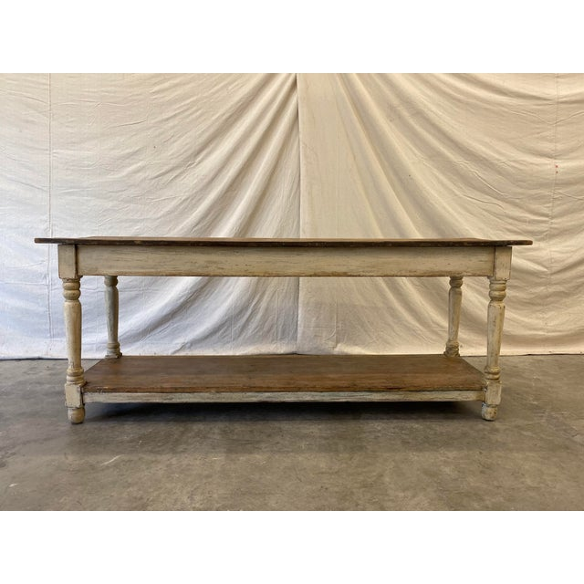 Rustic French Farm Console Table - 19th C For Sale - Image 10 of 12