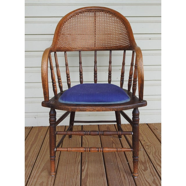 Antique Oak Cane Back Chair For Sale - Image 10 of 10