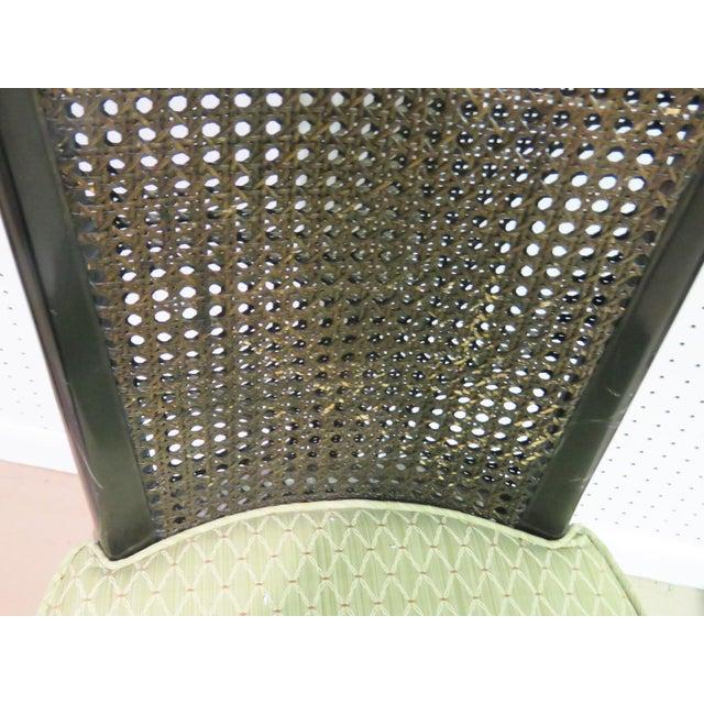 6 Harvey Probber Ebonized Caned Back Dining Chairs - Image 5 of 6