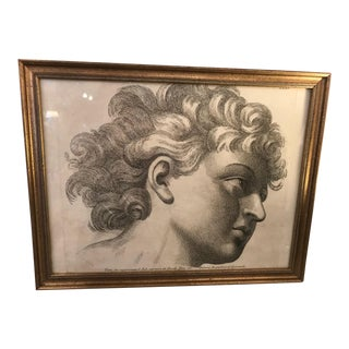 Mid 19th Century Antique Paolo Fidanza Etching Print For Sale