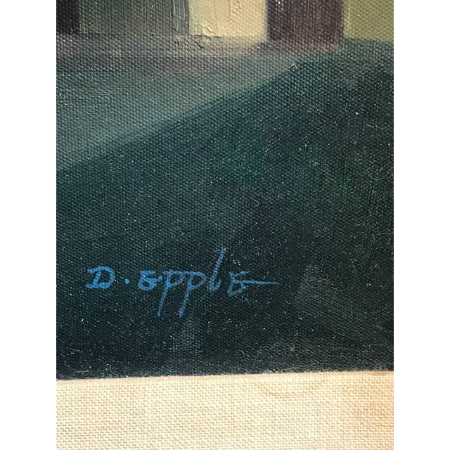 "Canvas After Gorgio De Chirico ""The Song of Love"" For Sale - Image 7 of 10"