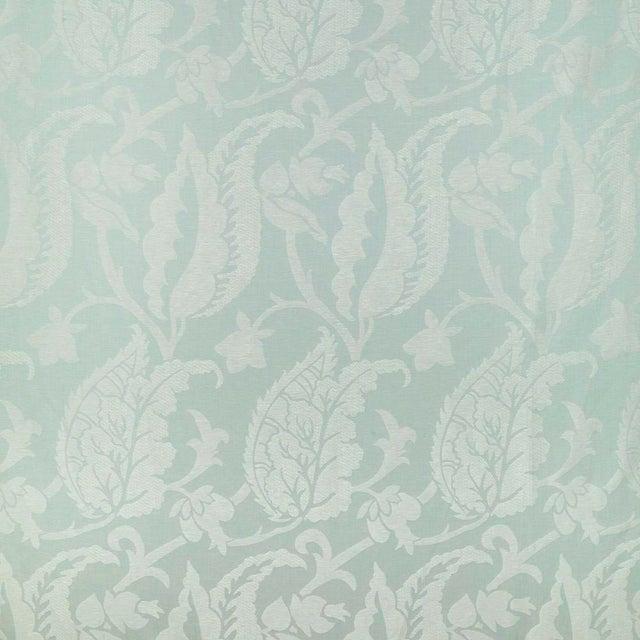Suzanne Tucker Home Jacqueline Linen Blend Jacquard in Celadon For Sale