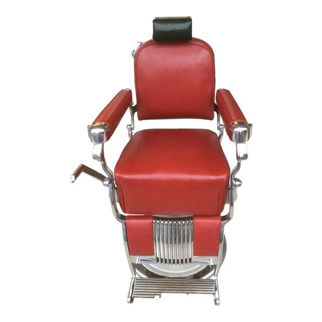Antique Belmont Barber Shop Chair For Sale - Antique Belmont Barber Shop Chair Chairish