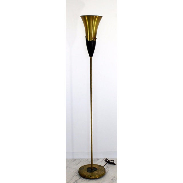 For your consideration is an incredible, original, uplight floor lamp, by Russel Wright, circa the 1940s. This lamp is...