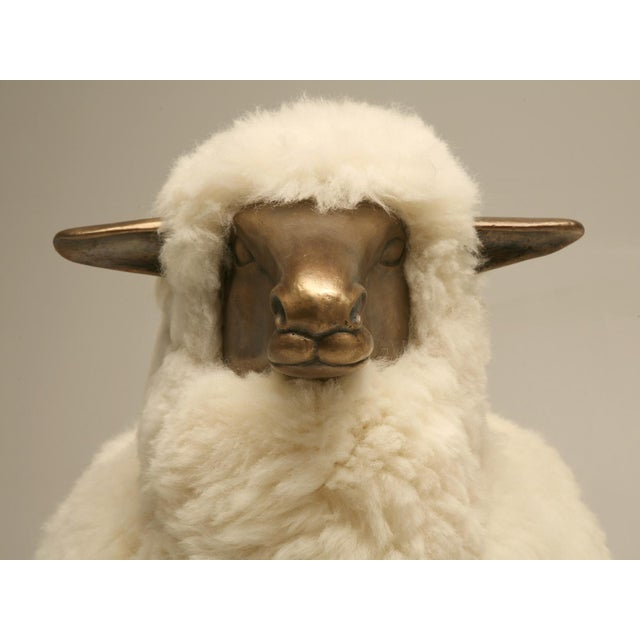 Old Plank Solid Bronze Sheep For Sale - Image 9 of 9