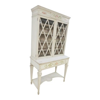 Italian Paint Decorated Bookcase