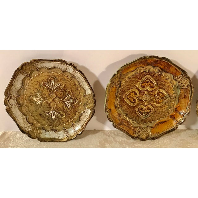 Italian Italian Wooden Gold Florentine Coasters - Set of 4 For Sale - Image 3 of 11