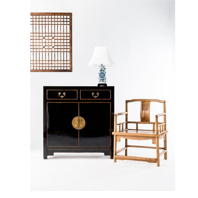 Early 21st Century Asia Black Hallway Zen Cabinet For Sale - Image 5 of 6