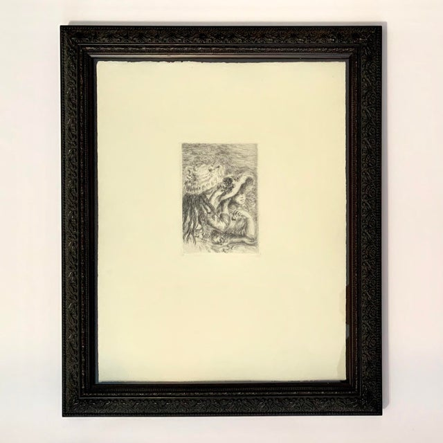 Renior 1894 Etching With Museum Glass For Sale - Image 9 of 9