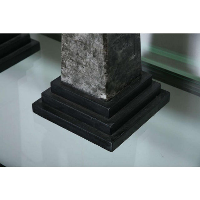 Black Pair of Stone and Ceramic Architectural Elements For Sale - Image 8 of 9
