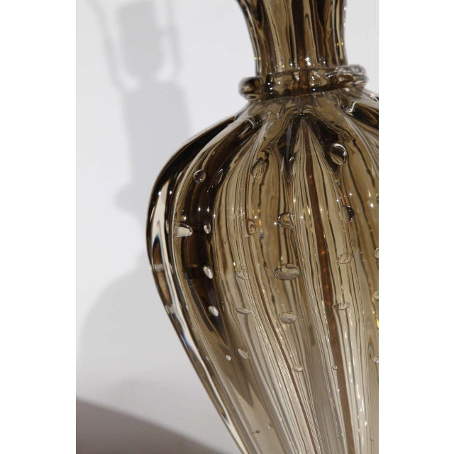 Gold Single Murano Glass Lamp by Seguso For Sale - Image 8 of 10