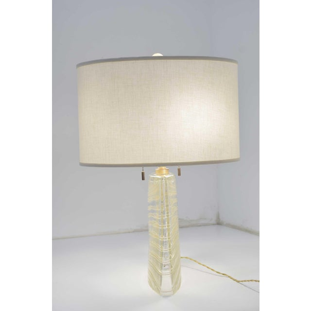 Vela Venetian Glass Lamp by Donghia For Sale - Image 12 of 13