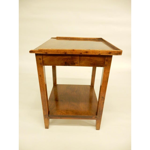French Early 19th Provincial Walnut Side Table For Sale - Image 3 of 7