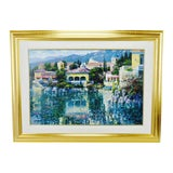 Image of Vintage Framed Howard Behrens Brushstrokes Collection Lithograph Painting on Canvas For Sale