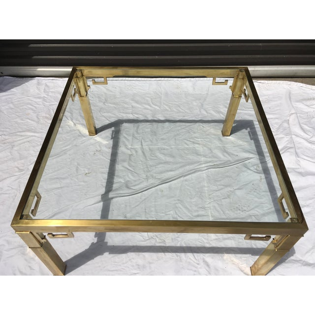1970s Mastercraft Italian Brass Coffee Table For Sale - Image 5 of 12