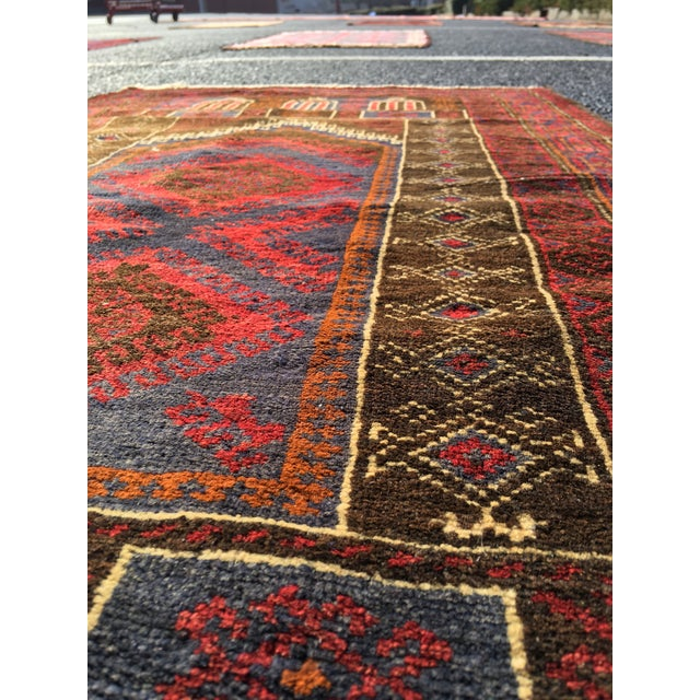 Vintage Persian Baluchi Small Area Rug- 2′10″ × 4′4″ - Image 8 of 8