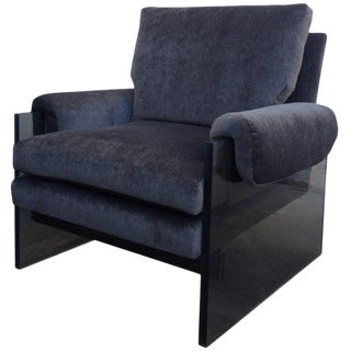 "Rare Milo Baughman Lucite Armchair, ""The Environment Collection"" For Sale"