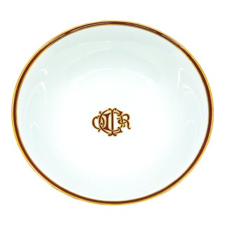 Christian Dior Red Monogram Bowl For Sale