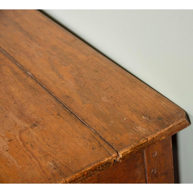 Brown Large 19th Century French Pine Drapers Table With Original Finish For Sale - Image 8 of 13