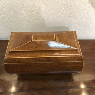 19th Century Antique English Burl Walnut Wood Box With Red Velvet Inlay - Sotheby's Preview