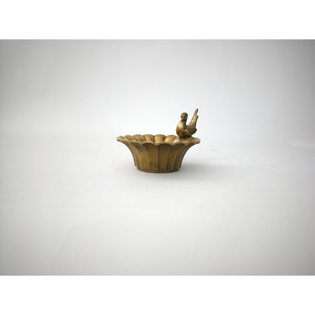Vintage Brass Bowl with Bird - Image 8 of 8