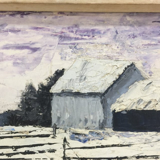 Winter Wonderland Landscape Painting For Sale In Miami - Image 6 of 8