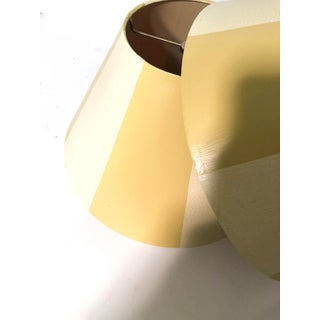 Yellow Stripe Lamp Shade - a Pair Preview
