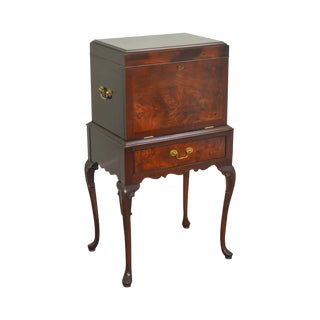 Hickory Chair Co. Flame Mahogany Queen Anne Silverware Chest