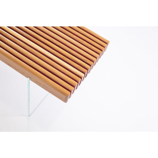 Contemporary Durodeco Corduroy Bench For Sale - Image 3 of 5
