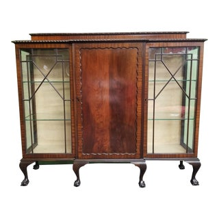Chippendale Mahogany Display Cabinet/Bookcase