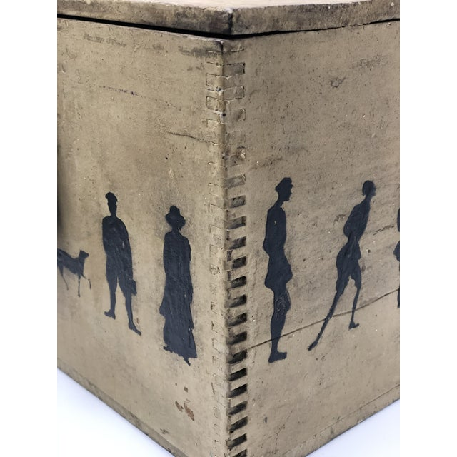 19th Century Silhouette Painted Wooden Box For Sale - Image 12 of 13