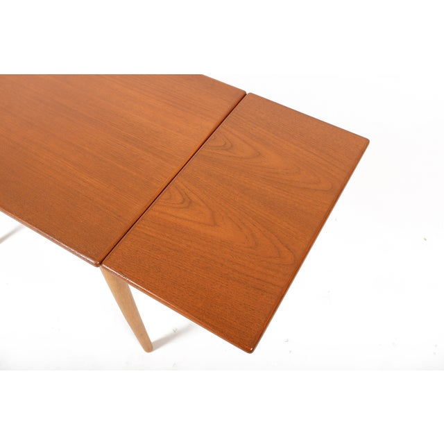Brown Borge Mogensen Teak & Oak Drop Leaf Coffee Table For Sale - Image 8 of 9