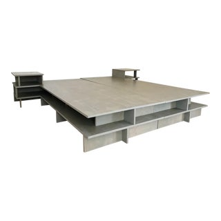 Modern Donald Judd Inspired Platform Bed For Sale