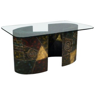 Paul Evans Pedestal Dining Table for Directional For Sale