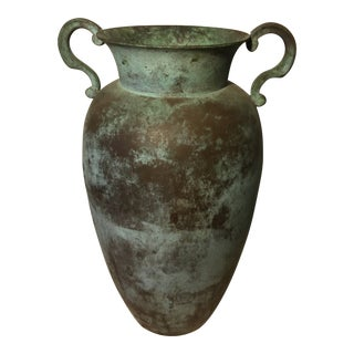 Early 20th Century Vintage Greek / Roman Style Bronze Urn For Sale
