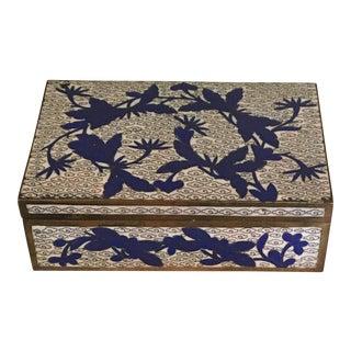 Vintage Chinese Cloisonné Trinket Box