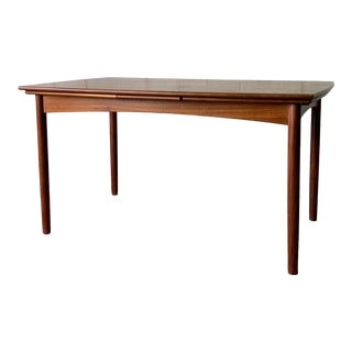 Mid Century Modern Teak Danish Refractory Dining Table For Sale