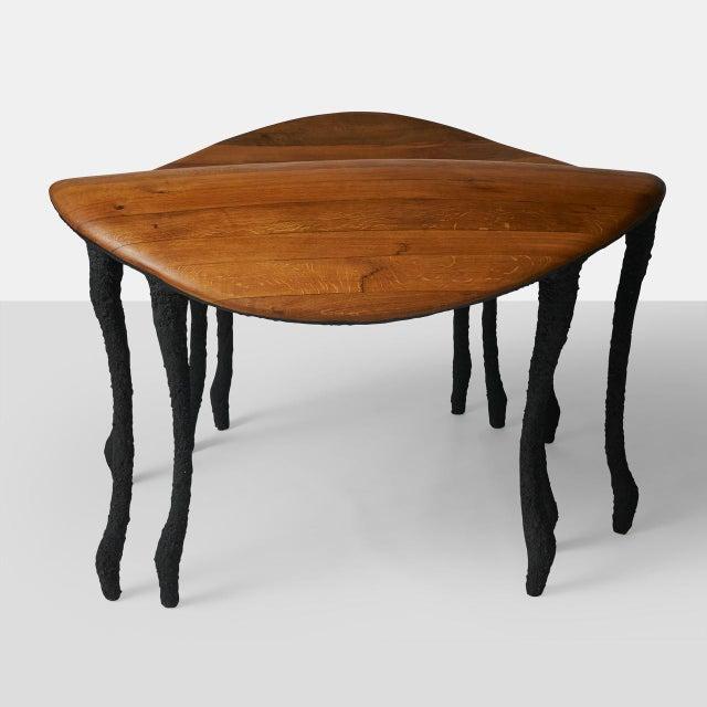 Valentin Loellmann Bended Center Table in Oak by Valentin Loellmann For Sale - Image 4 of 7