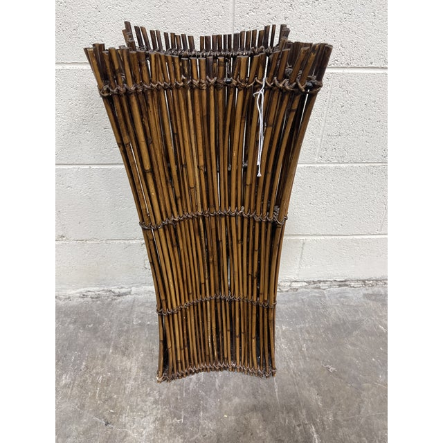 Vintage Bamboo Umbrella Stand Vase For Sale - Image 4 of 9